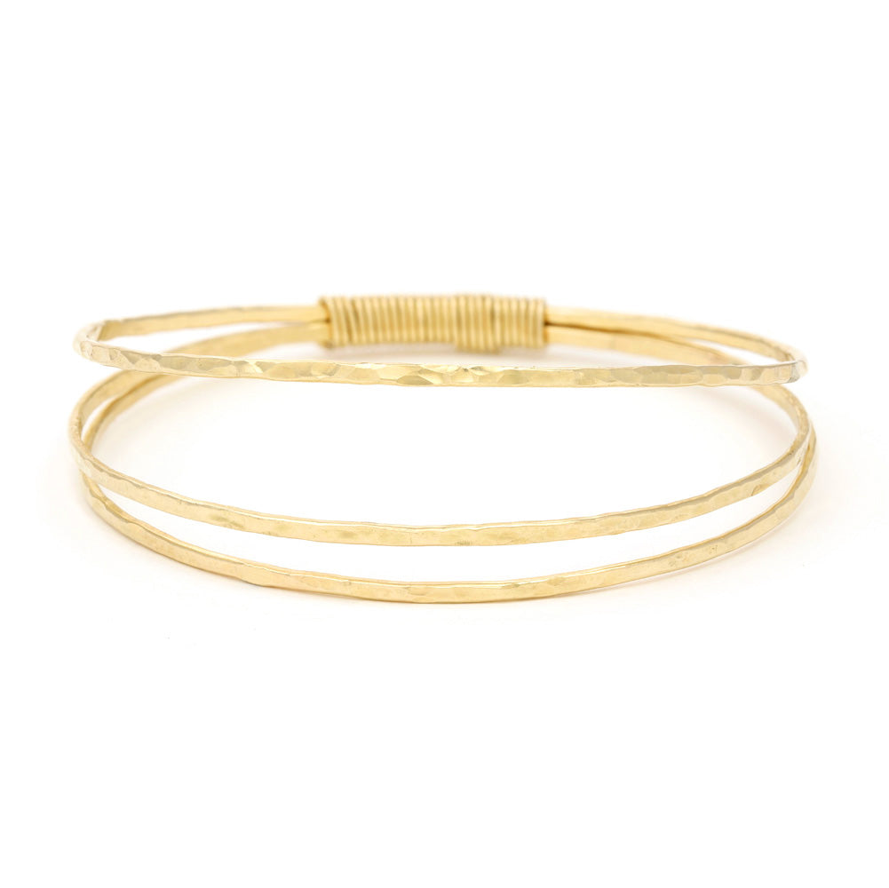Triple Gold Filled Bangle & Wrap