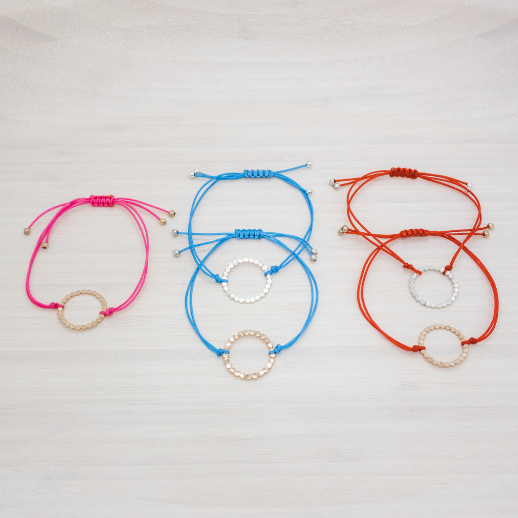 Extra Small Bubble Circle Friendship Bracelet
