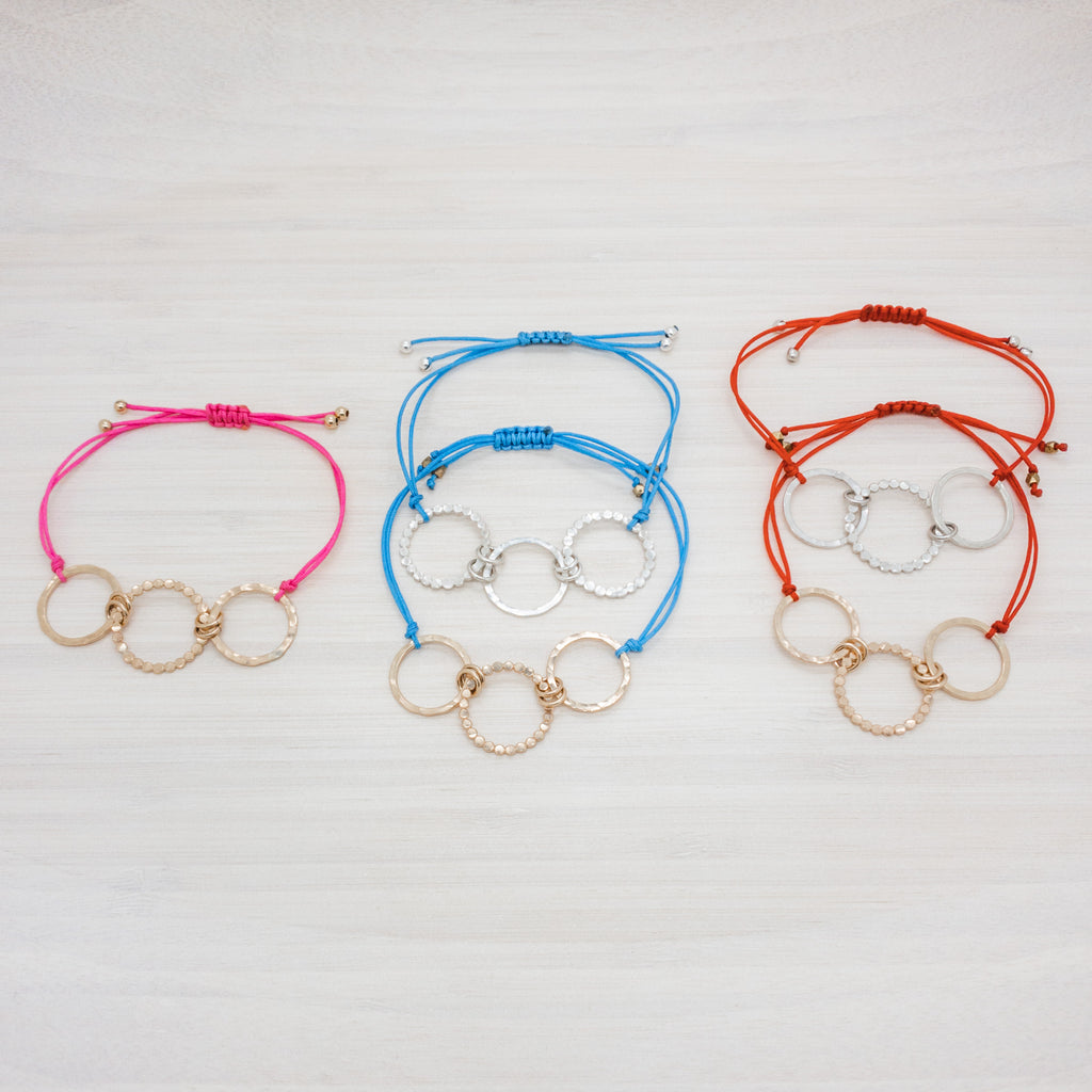 Triple Circles Friendship Bracelet