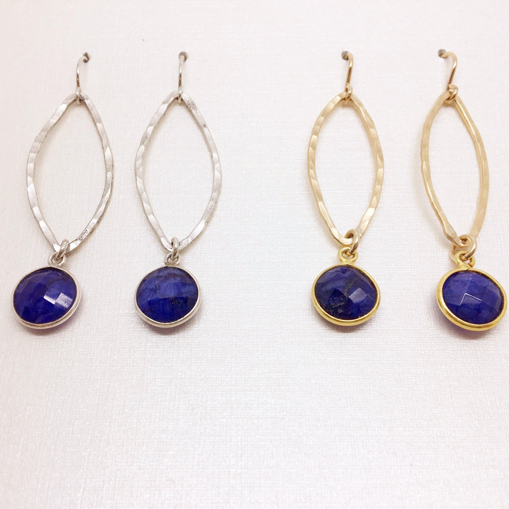 Large Marquise & Sapphire Drop