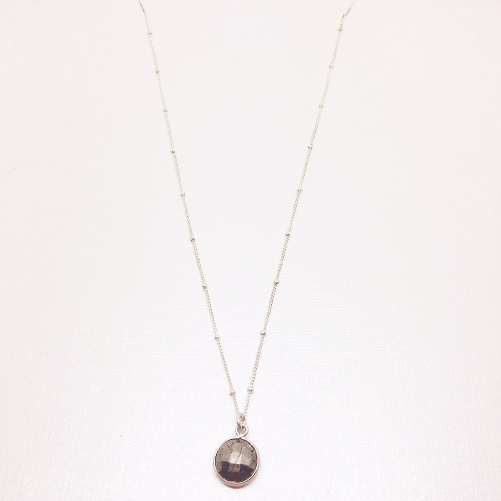 STERLING Bead Chain with Stone Drop