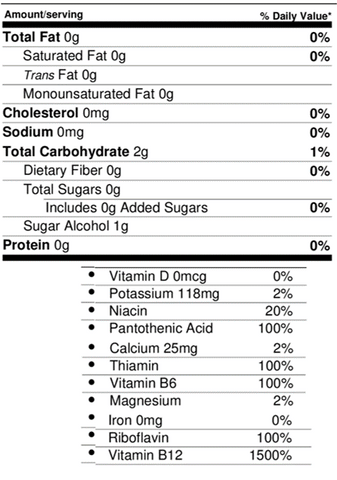 Energy nutrition facts cleanest ingredients out there
