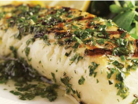 Parchment-Baked Halibut with Pesto, Zucchini and Carrots Recipe