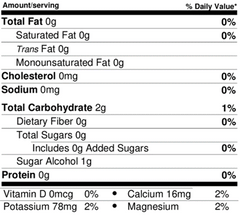 Hydration nutrition facts cleanest ingredients