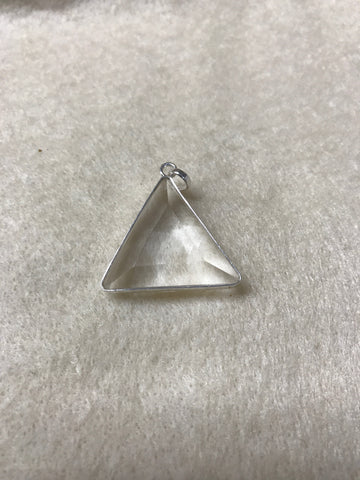 Clear Quartz Vogel Triangle Pendant