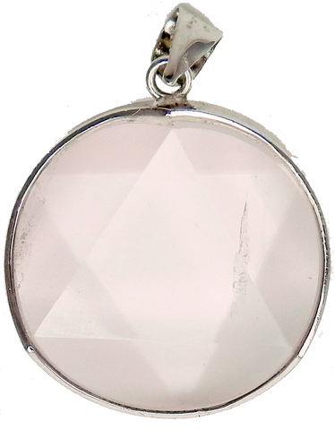 Rose Quartz Star of David Pendant- 25mm