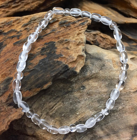 Clear Quartz Bracelet - Intention, small beads