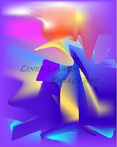 Linda Lauren's Energy Art™ - Purple Ribbons of Truth
