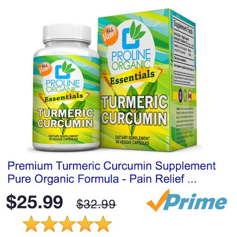 Buy Proline Organic Turmeric Curcumin without BioPerine on Amazon