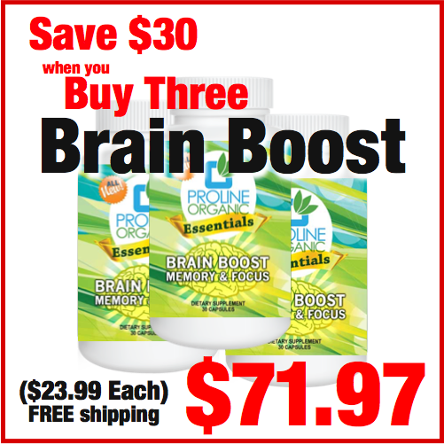 Brain Boost for Memory & Focus, 30 Capsules