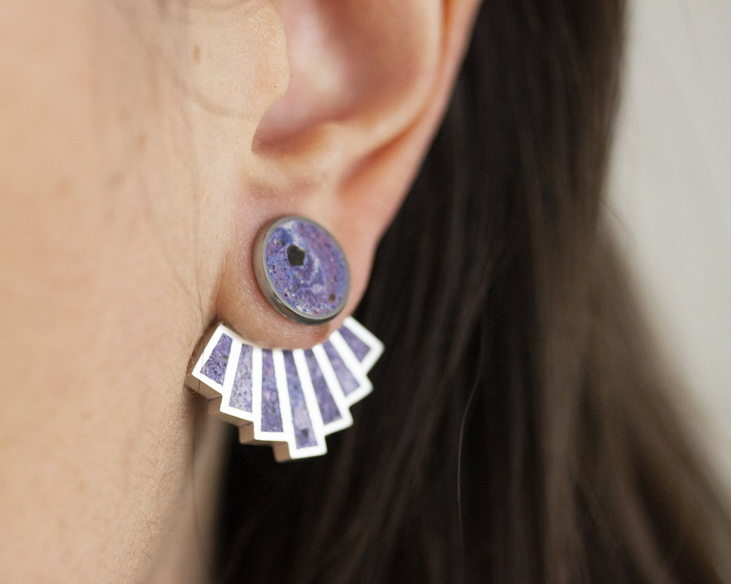 EAR JACKETS - CONCRETE EARRINGS