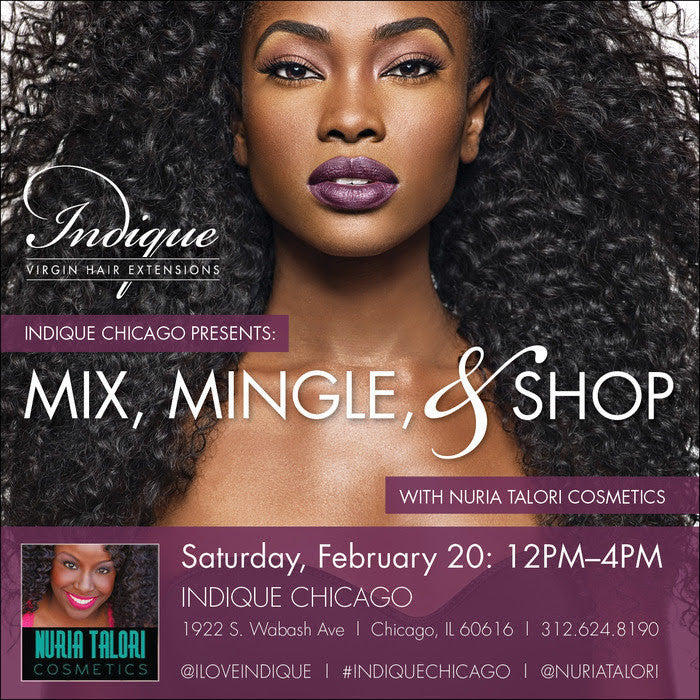 "Nuria Talori Partners with Indique Chicago for ""Mix, Mingle and Shop"" Event on February 20, 2016"