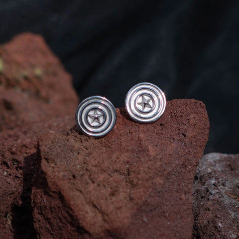 Captain America Stud Earrings