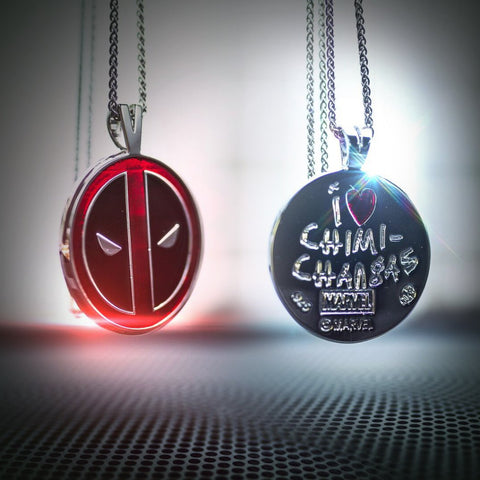 Deadpool Pendant in Sterling Silver or 14K Gold, Official Marvel Collectible