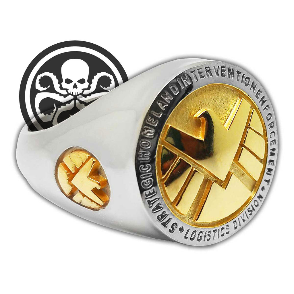 bronze shield r men dragon radical ring rings s