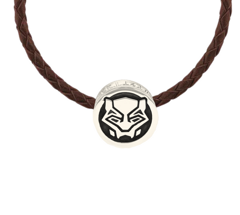 Large Wakanda Forever Black Panther Bead