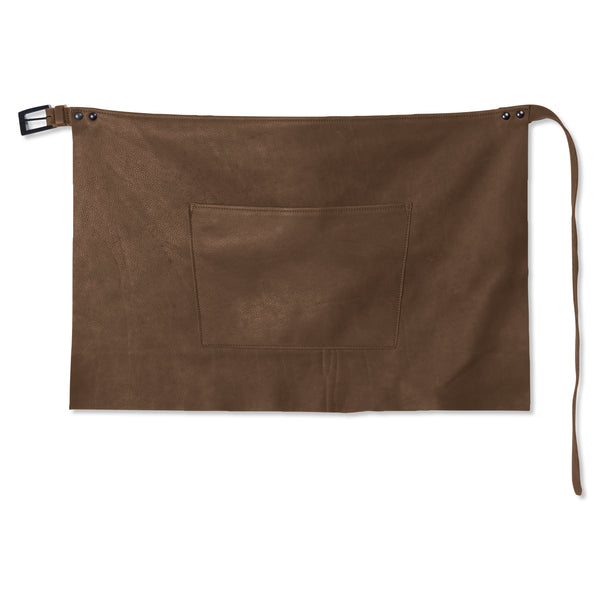 "Dutchdeluxes Waist Short Taupe Leather ""Professional Apron"""