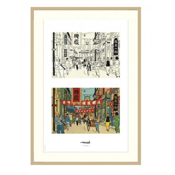 Tintin Framed Lithos (Set of 8 - 2 Copies & 4 Designs)