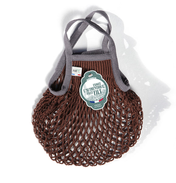 Filt Mini Bag in Brown with Grey Handles
