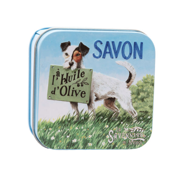 "100g Soap in Tin Box ""Chien Jack Russell"""