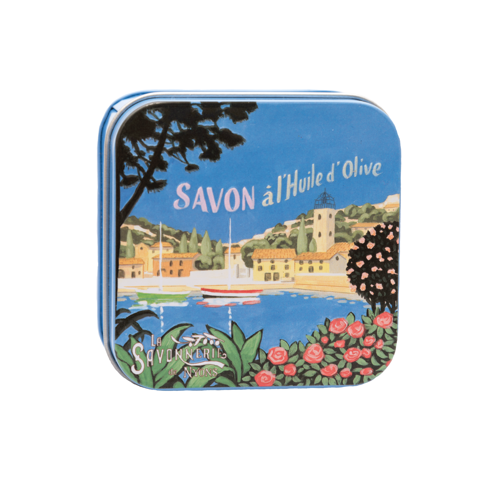 "100g Soap in Tin Box ""Côte d'Azur Marina"" Savon Lavande"