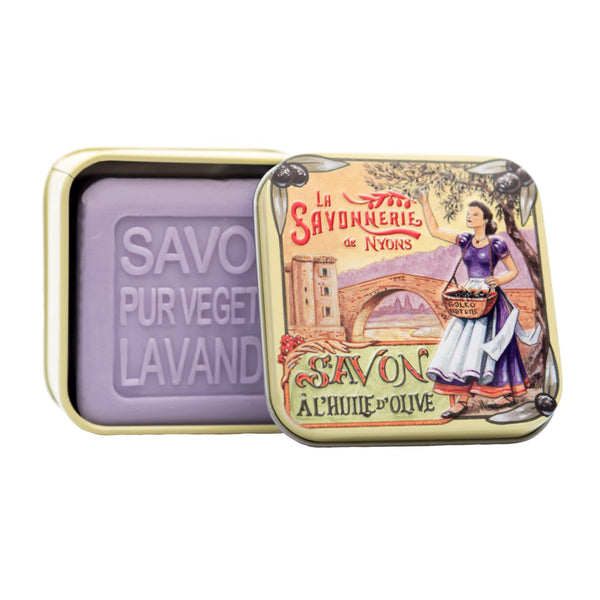 "100g Soap in Tin Box ""Provence Pont"" Savon Lavande"