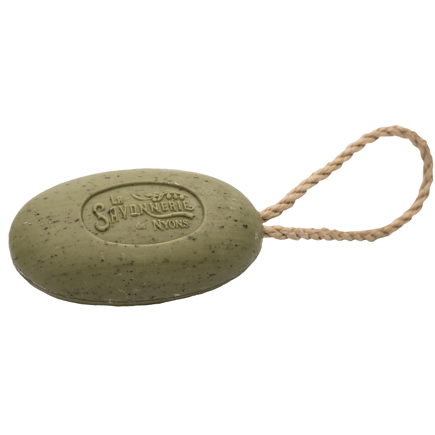 220g Exfoliating Green Olive Soap with Rope