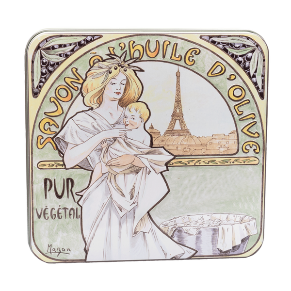 4x100g Soap in Tin Box - Savon Mucha