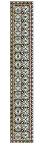 "Beija Flor Brown Fleur de Lys Extra-Long Table Runner (13"" x 60"")"