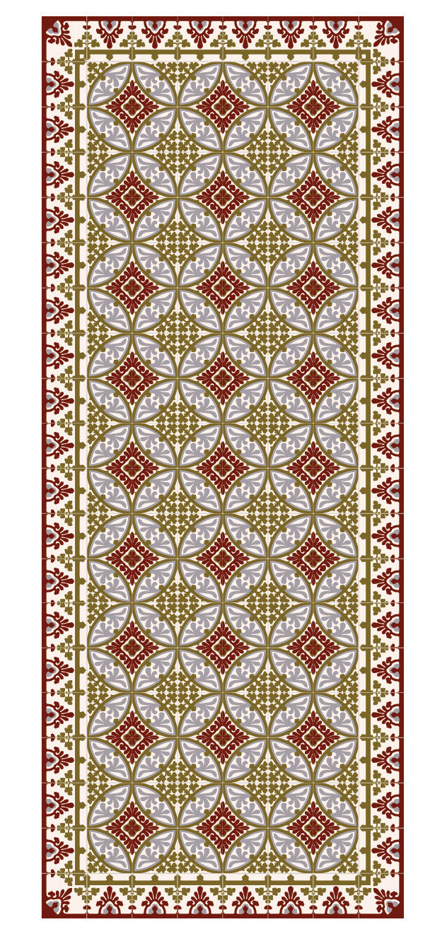 "Beija Flor Bordeaux Barcelona Extra-Large Floor Runner (32"" x 79"")"