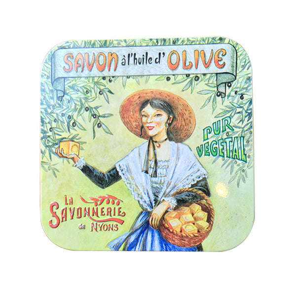 100g Soap in Tin Box - Savon Rose