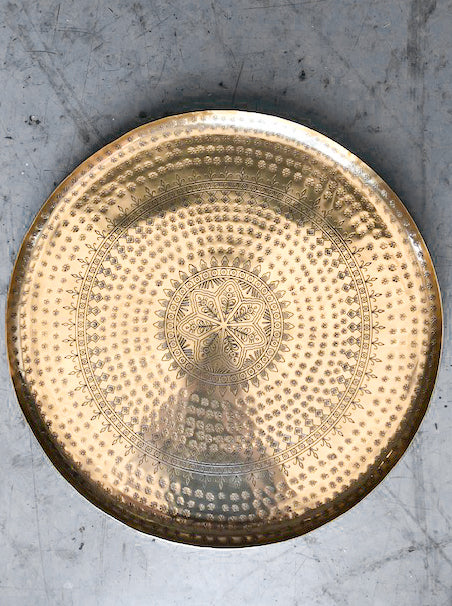 Large Moroccan Tray Gold