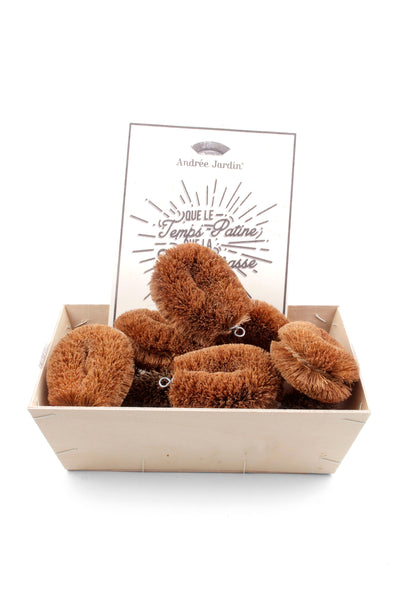 Andrée Jardin Tradition Set of 8 Coconut Scrubbers in Retail Display Box