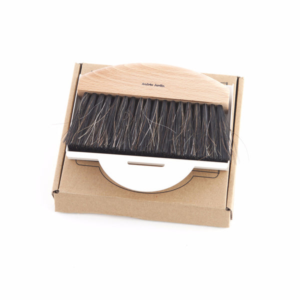 Andrée Jardin Mr. and Mrs. Clynk Mini Brush and Cream Dustpan Gift Set