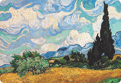 Van Gogh Wheat Field with Cypresses Placemat