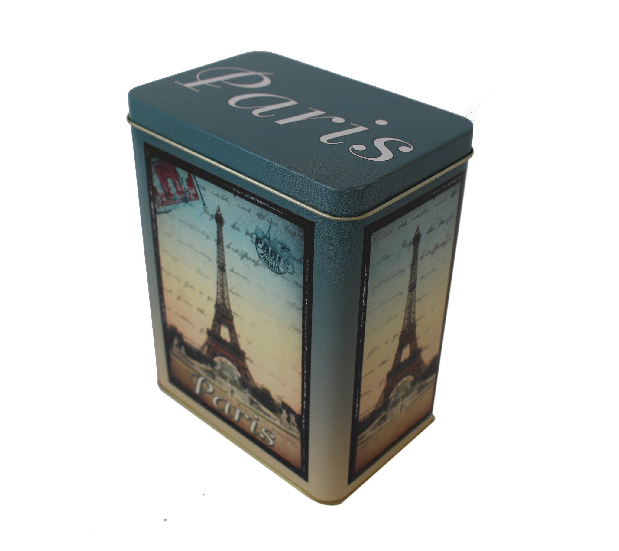 Eiffel Tower Large Tin Canister