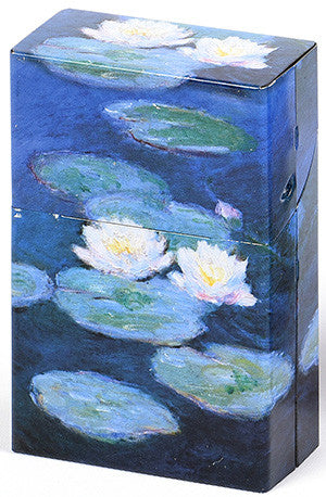 Mini Hinged Tin Box Monet Water Lilies