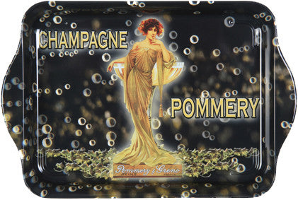 Champagne Pommery Mini Metal Tray