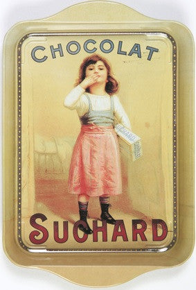 METAL TRAY CHOCOLAT SUCHARD WITH LITTLE GIRL