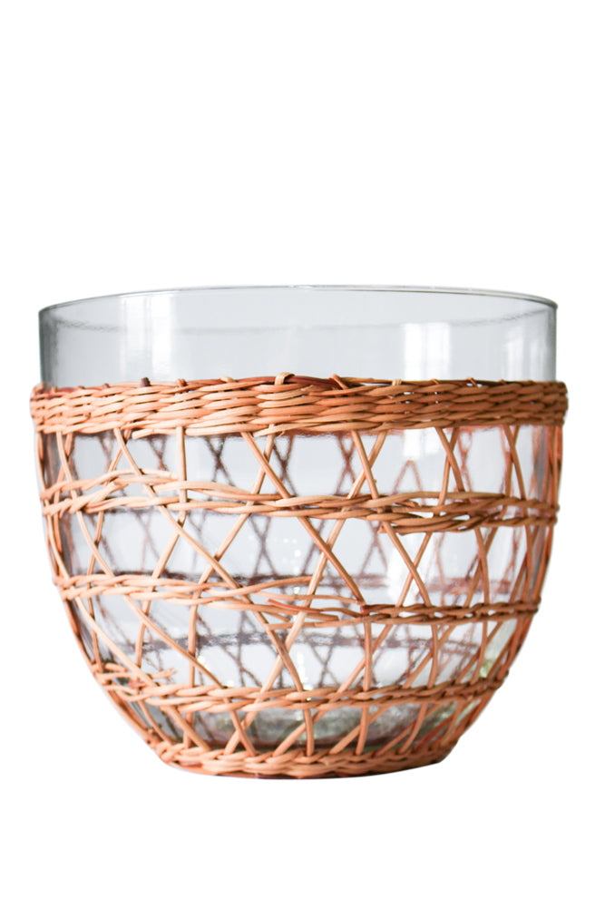 Rattan Cage Salad Bowl Large