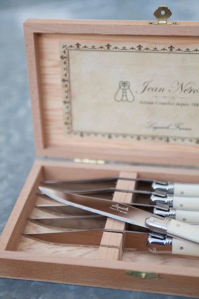 Laguiole Ivory Knives Platine in Presentation Box (Set of 6)