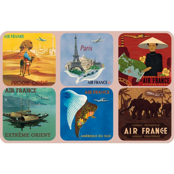 Coasters Air France (Set of 6)