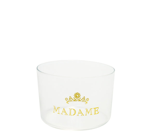 Glass Crown Madame Gold