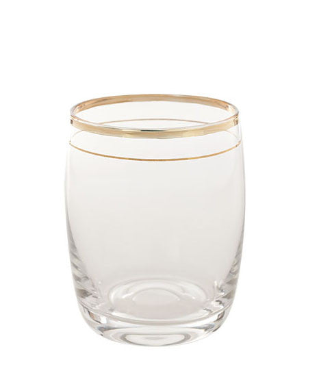Antan Gold Barrel Large Glass
