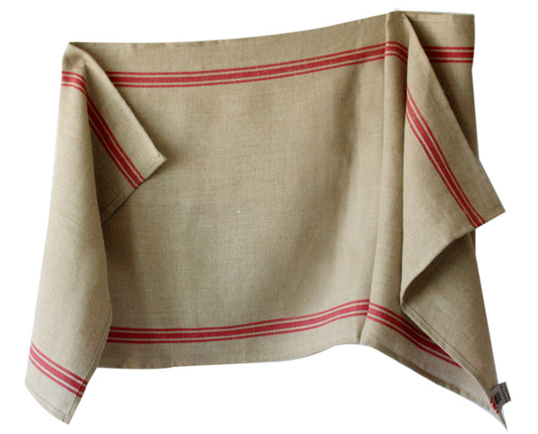 Thieffry Monogramme Linen Red Table Runner