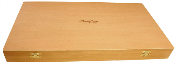 Laguiole Rainbow Platine Flatware in Presentation Box (Set of 24)