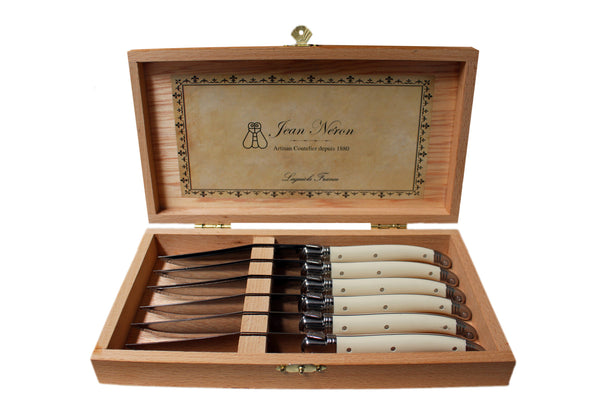 Laguiole Ivory Knives in Presentation Box (Set of 6)