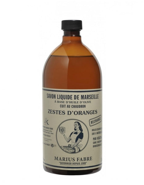 Marseilles Liquid Soap Orange Zest <br> (1L Refill)