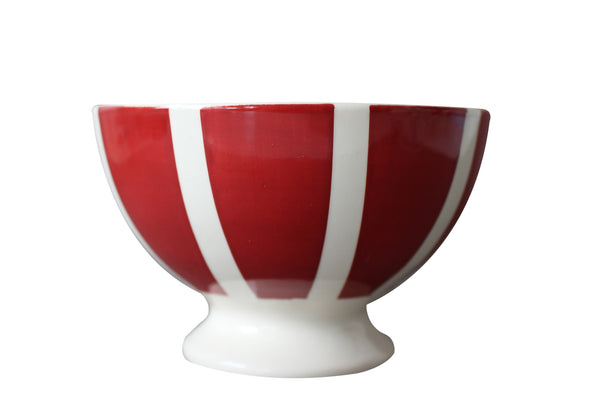 Campagne Red Mini Bowl Vertical Stripes