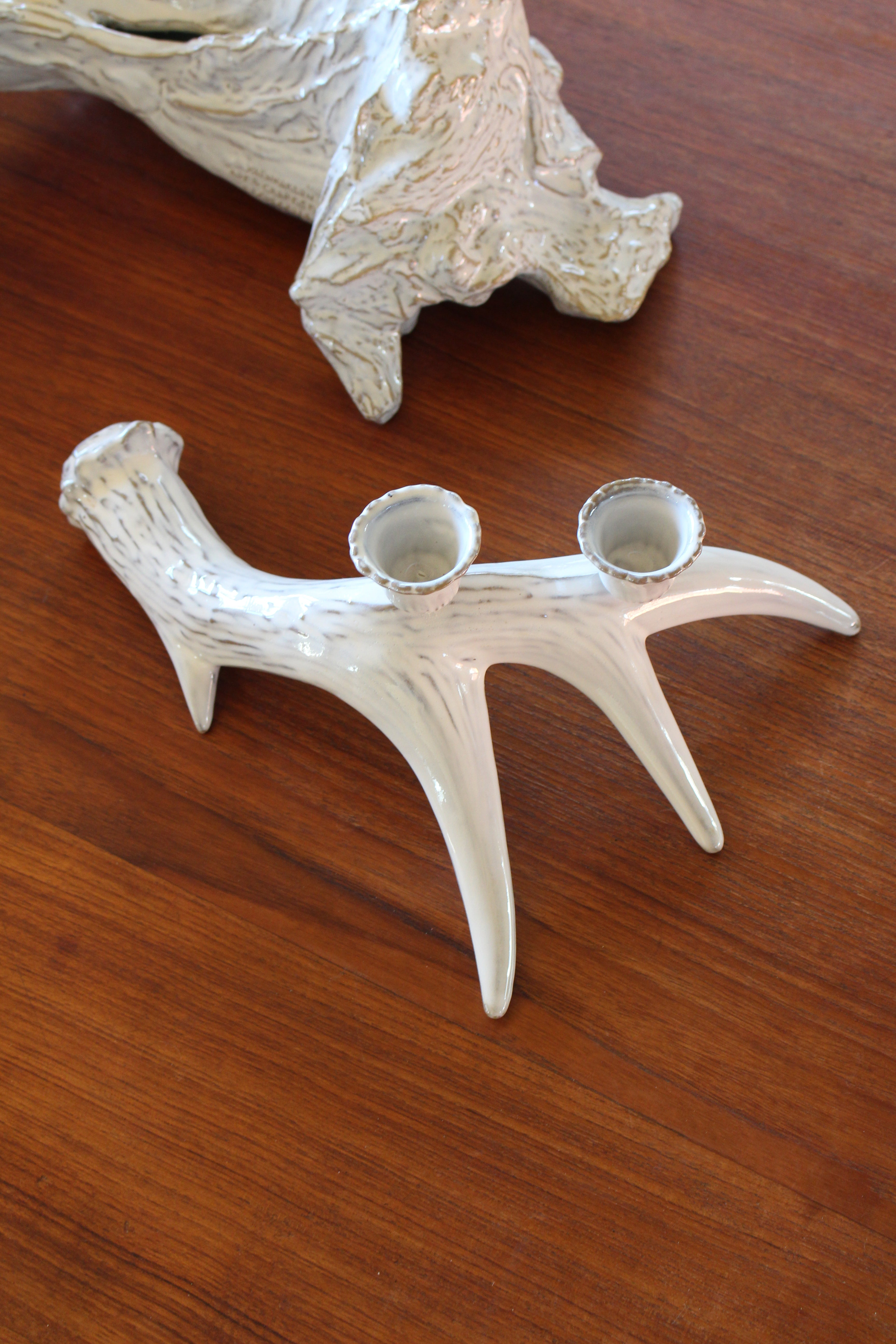 Yarnnakarn Ceramics Deer Antler Candle Holder I